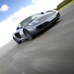 McLaren MP4-12C 2012 grey speed front low airstrip
