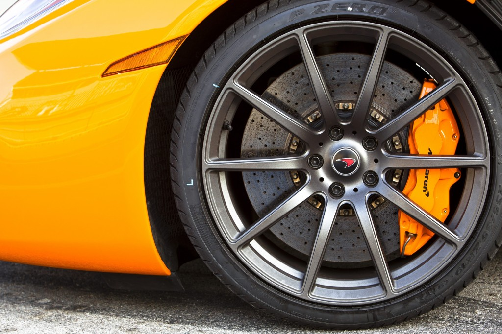Mclaren Mp4 12c 2012 Orange Front Wheel And Brake Caliper