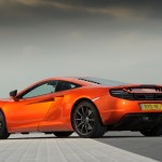 McLaren MP4-12C 2012 orange low rear