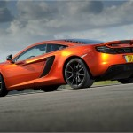 McLaren MP4-12C 2012 orange low rear close
