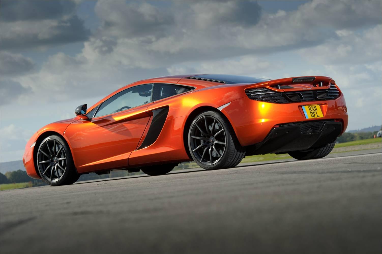 McLaren MP4-12C 2012 orange low rear close