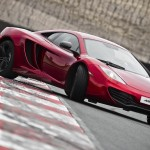 McLaren MP4-12C 2012 red oversteer drift airstrip