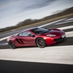 McLaren MP4-12C 2012 red speed front airstrip