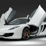 McLaren MP4-12C 2012 white front doors open