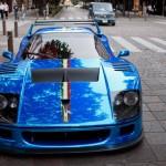 Ferrari F40 1988 Blue Front