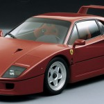 Ferrari F40 1988 Red Front Studio with background