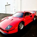 Ferrari F40 1988 Red industrial
