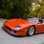 Ferrari F40 1988 Red road motion
