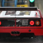 Ferrari F40 1988 circuit rear rain