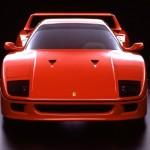 Ferrari F40 1988 classic front low dark