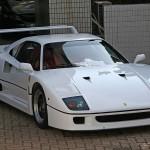 Ferrari F40 1988 classic front white
