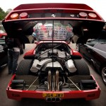Ferrari F40 1988 engine bay open