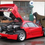 Ferrari F40 1988 open bonnet