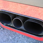 Ferrari F40 1988 rear exhaust closeup