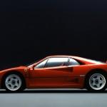 Ferrari F40 1988 red classic side profile ns