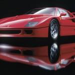 Ferrari F40 1988 red low studio