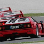 Ferrari F40 1988 red rear circuit