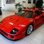 Ferrari F40 1988 red showroom front