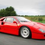 Ferrari F40 1988 red speed low