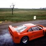 Ferrari F40 1988 red wheelspin