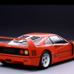 Ferrari F40 1988Red Rear Classic high
