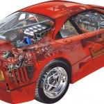 Ferrari F40 Illustration