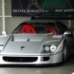Ferrari F40 LM Silver Front