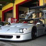 Ferrari F40 LM Silver Front low