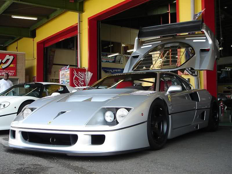 Ferrari F40 Lm Silver Front Low Revival Sports Cars