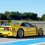 Ferrari F40 LM Yellow BBS rear