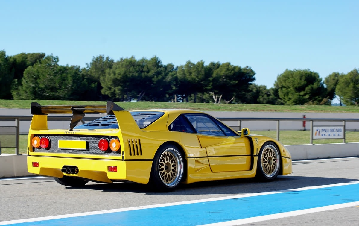ferrari f40 lm yellow bbs rear revival sports cars. Black Bedroom Furniture Sets. Home Design Ideas