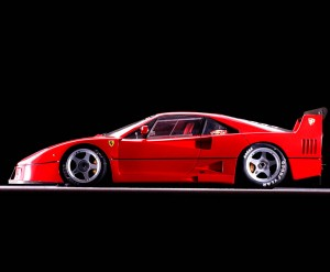 Focus on the Ferrari F40 LM