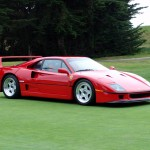 Ferrari F40 red grass