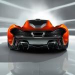McLaren P1 Paris design concept - rear low detail