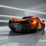 McLaren P1 Supercar Paris Motorshow rear view