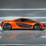 McLaren P1 Supercar Paris Motorshow side profile view
