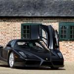 Ferrari Enzo 2002 black front drivers door open