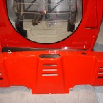 Ferrari F40 LM Competizione rear engine bay and bumper cowling detail Serial Number 97881