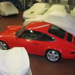 Porsche 911 Carrera RS 964 red top rear