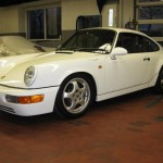 Porsche 911 Carrera RS 964 white front
