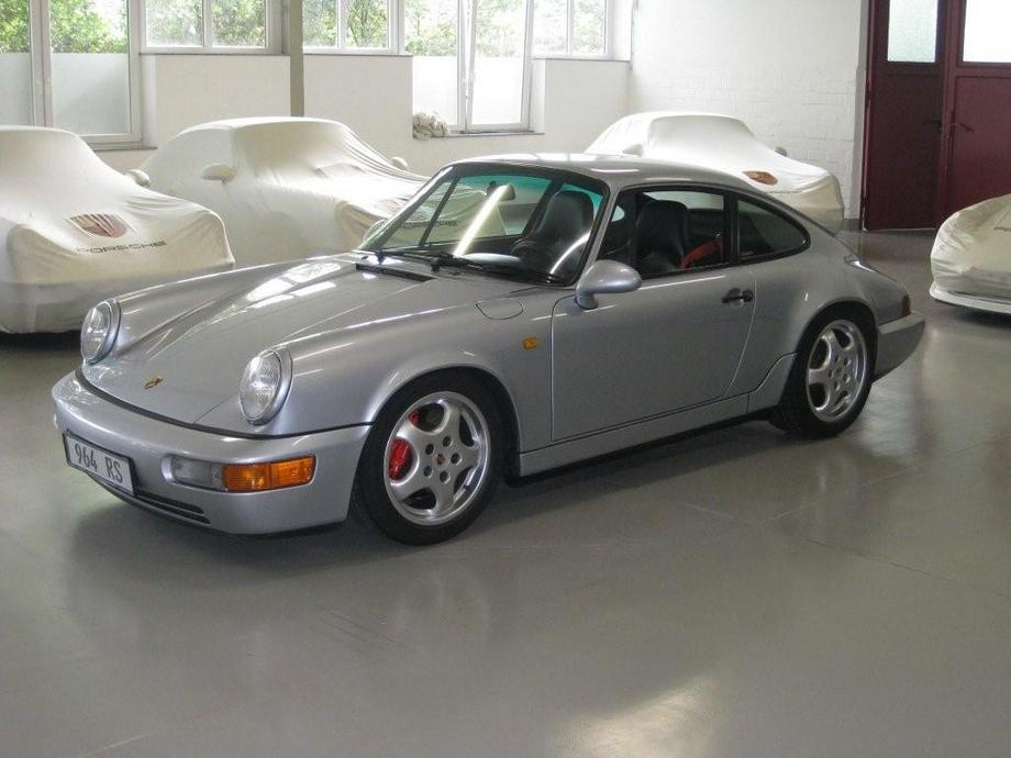 Porsche 911 Carrera Rs 964 Front Silver Revival Sports Cars
