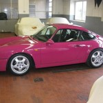 Porsche 911 Carrera RS 964 purple side