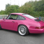 Porsche 911 Carrera RS 964 rear purple