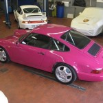 Porsche 911 Carrera RS 964 rear top purple