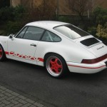 Porsche 911 Carrera RS 964 white modified rear