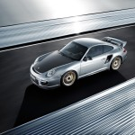 Porsche 911 GT2 RS 997 silver top front motion