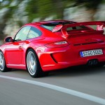 Porsche 911 GT3 997 red rear motion