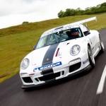 Porsche 911 GT3 Cup 997 front track motion