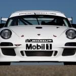 Porsche 911 GT3 R 997 white front profile