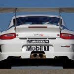 Porsche 911 GT3 R 997 white rear profile